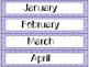 Calendar Cards Set - 4 Rainbow Brights (Pink, Purple, Turq