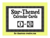 Calendar Number Cards (Star Theme)