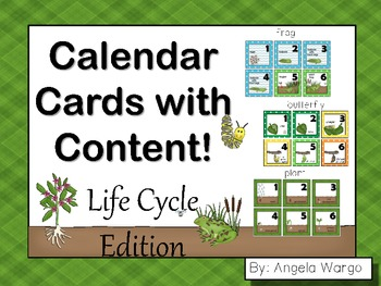 Calendar Cards with Content – Life Cycle Edition