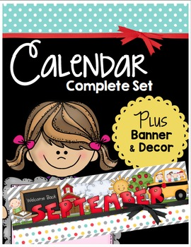 Calendar & Classroom Chalkboard Decor Set - Behavior Chart