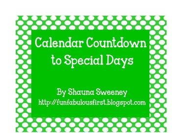 Calendar Countdown to Special Days