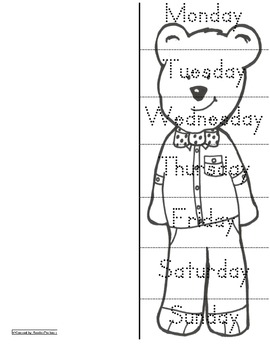 Calendar Days Bear About Town Eng & Spanish Activities (3s