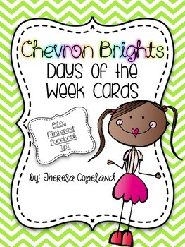 Days of the Week Cards {Chevron Brights}