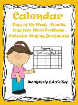 Calendar Math -Days of the week, Months  etc. - Worksheets