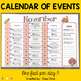 Calendar: Events in the English Speaking world
