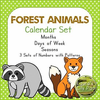 Calendar Forest Animals Theme