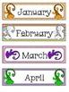 Calendar Headers: Geckos