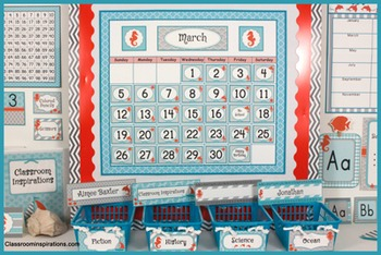 Calendar Headers, Tags and Numbers – Nautical by the Sea C