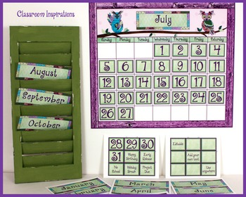 Calendar Headers and Numbers– Coordinates with Book Smart