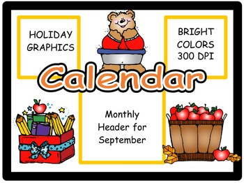 Calendar Headers for: September