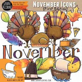 November Clip Art {First Edition}