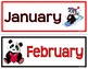 CALENDAR ICONS: Red & Black Edition