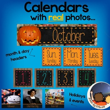 Calendar Labels with Photographs