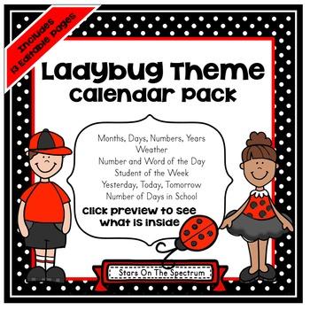 Calendar * Ladybug Theme Calendar