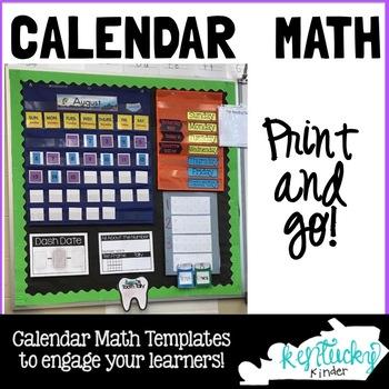 1st Grade Calendar Math UPDATED