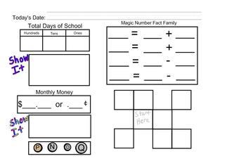 Calendar Math 3 for the SmartBoard