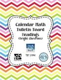 Calendar Math Bulletin Board Headings, Charts, & Graphs -