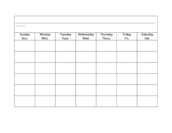 Calendar Math February Template for Folder