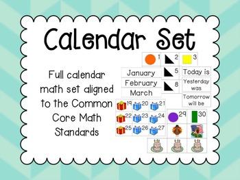 Core Content Aligned Calendar Math Full Set