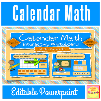 Calendar Math Interactive / Smart Board  Editable Powerpoi