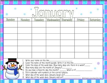 Calendar Math January