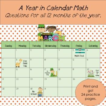 Calendar Math Problems