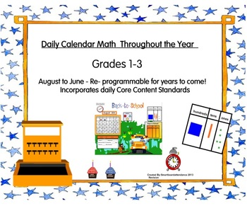 Calendar Math Throughout the Year:  CCSS 1st, 2nd, 3rd Grade