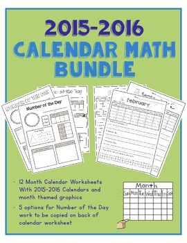 Calendar Math and Number of the Day Bundle!