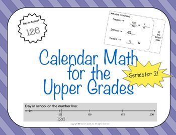 Calendar Math for Upper Grades - 2nd Semester
