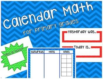Calendar Math for primary grades