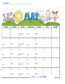 Calendar- May