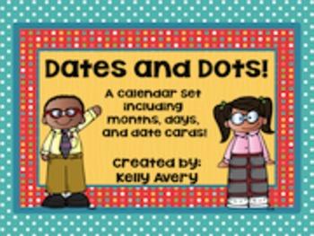 Calendar, Months, Days, Dates, Polka Dots, Bulletin Boards