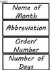 Calendar Months of the Year