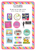 Calendar - Months of the year - Text - Wall charts - Polka