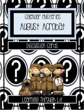 Calendar Mysteries AUGUST ACROBAT - Discussion Cards