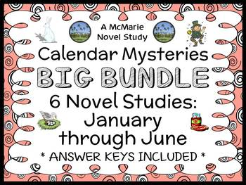 Calendar Mysteries: January thru June BUNDLE (Ron Roy) 6 N