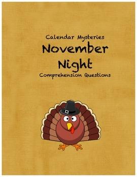 Calendar Mysteries November Night comprehension questions