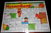 Calendar November & January Laminated 21 X 16 Writing Prom