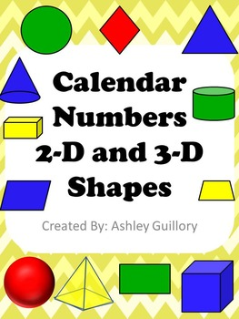 Calendar Number Cards - 2D and 3D Shapes
