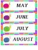 Calendar Number Cards - Snail Theme