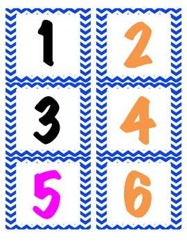 Calendar Number Line Numbers- Days in School