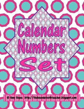 Calendar Number Set