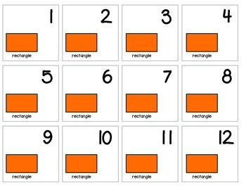 """Calendar Numbers (2.5"""" x 2.5"""") :: Featuring the RECTANGLE shape"""