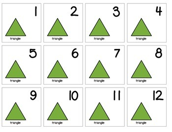 "Calendar Numbers (2.5"" x 2.5"") :: Featuring the TRIANGLE shape"