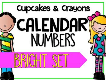 Calendar Numbers BRIGHTS