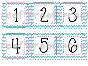 Calendar Numbers Chevron