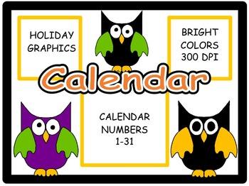 Calendar Numbers: October, Set 3