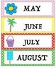 Calendar Numbers: Polka Dot Theme