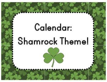 Calendar Numbers - Shamrock/St. Patrick's Day Theme