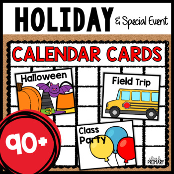 Calendar Numbers for Holidays and Special Days